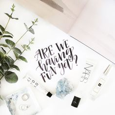 It's Friday! Also it's my last working day before the holiday so even the uncertainty of the UK election results will not hold me from feeling super excited :D Hand Lettered Quote | Instagram Flatlay | Pineapple Jam Design Graphic Design Studio