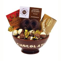 Elegance in Chocolate to Canada by GiftBasketsOverseas.com. It's the ideal gift for any chocolate lover in your life.