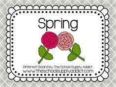 Spring Pin Board by The School Supply Addict