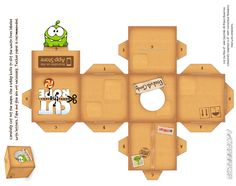 Make your own cardboard box for Om Nom (Cut the Rope)