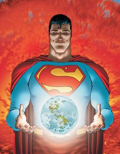 One of the best representations of Superman bar-none. Quitely is an fantastic, though acquired, taste. Never hesitate to read a Morisson story. A great, human tale. > All-Star Superman by Grant Morrison and Frank Quitely.