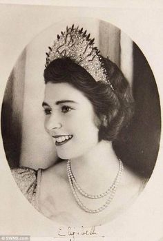 Queen Elizabeth II when she was an 18-year-old Princess.
