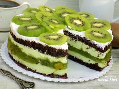 Cooking Recipes, Healthy Recipes, Healthy Food, Kiwi Cake, Cake Recipes, Cheesecake, Deserts, Food And Drink, Birthday Cake