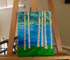 Bright Birches by SittingPrettyStudios on Etsy