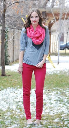 I think my favorite pink + red combo. Can I recreate?