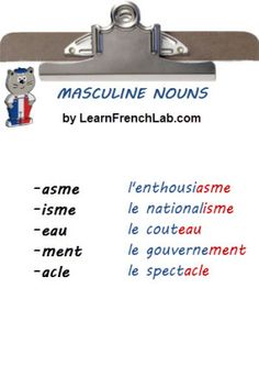 masculine French nouns