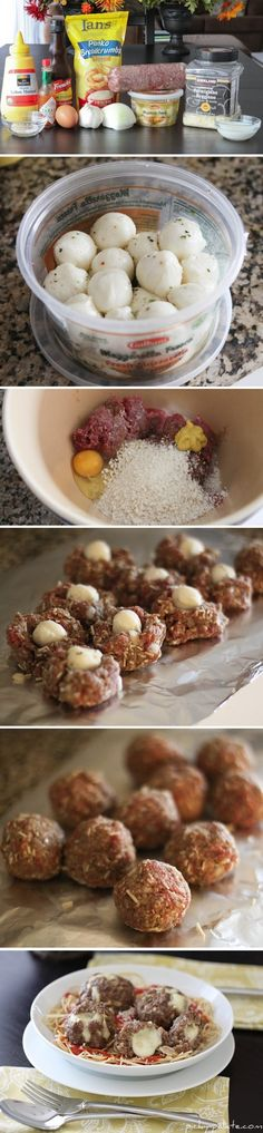 Mozzarella Stuffed Meatballs | Recipe By Photo