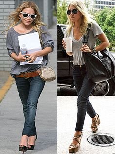 Mary Kate and Ashley street style