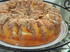 Peach Streusel Kuchen | Food to gladden the heart at RotiNRice.com