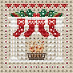 New Little House Needleworks Patterns Christmas Ornament Ideas Cross Stitch Christmas Stockings, Cross Stitch Stocking, Christmas Cross, Christmas Charts, Christmas Decor, Christmas Ideas, Christmas Tree, Holiday Decor, Small Cross Stitch
