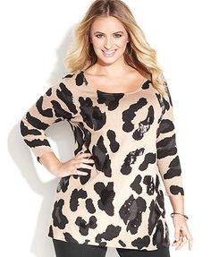 ff65bd4cc67 INC International Concepts Plus Size Scoop Neck Tunic Sweater Plus Sizes -  Tops - Macy s