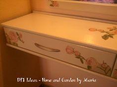 DIY Ideas - Home and Garden by Maria: Decoupage - Ντεκουπάζ - Μεταμόρφωση Ξύλινου Επίπλου Σε Κρεβατοκάμαρα. Decoupage, Toy Chest, Home And Garden, Storage, Diy, Furniture, Home Decor, Purse Storage, Decoration Home