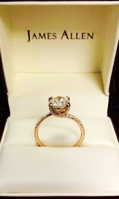 14K Rose Gold Twist Pave Engagement Ring