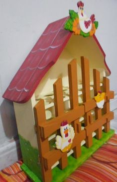 Arte Country, Easy Wood Projects, Paper Flowers, Gingerbread, Decoupage, Recycling, Gadgets, Simple, House