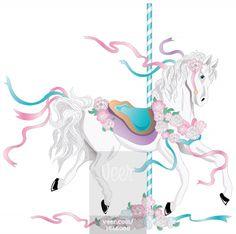 Carousel Horse Drawings | Carousel Horse Stock Illustration