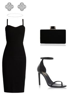 """Classic black"" by ms-khidoyatova on Polyvore featuring MaxMara, Yves Saint Laurent, Van Cleef & Arpels and Anne Sisteron"