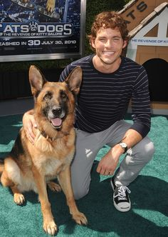 He's ALMOST as cute as this German Shepherd, which is saying a lot. | 25 Photos Of James Marsden That Will Help You Get Through This Blizzard