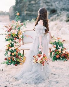 We get chills just about every time we see a statement sleeve so let's keep this wedding fashion trend coming shall. Applique Wedding Dress, Wedding Dress Sleeves, Blue Wedding Dresses, Wedding Gowns, Wedding Ceremonies, Boho Wedding, Wedding Bouquets, Wedding Decor, Wedding Flowers