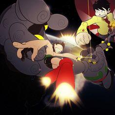 Astro Boy Vs. Gigantor by Cricketto