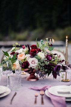 La Tavola Fine Linen Rental: Velvet Rose | Photography: Gagewood Photo, Event Planning & Design: Audere Events, Floral Design: Stems by Diana, Furniture and Tabletop Rentals: Celebrations Party Rentals