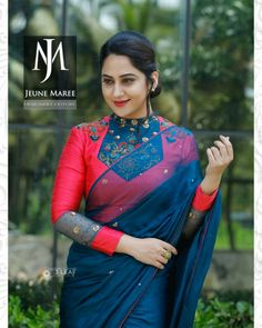 Have a look at the latest blouse designs trends for this year. Cotton Saree Blouse Designs, Stylish Blouse Design, Fancy Blouse Designs, Bridal Blouse Designs, Blouse Patterns, Blouse Models, Boho, Floral, Shopping