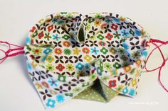Here is a little fabric gift pouch – it is the perfect size to gift some jewellery or other small item.