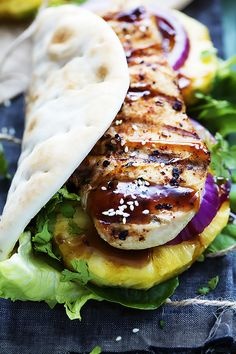 Grilled Pineapple Teriyaki Chicken Wraps will slay every lunch, every time.