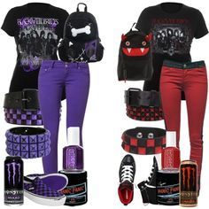 """Purple Vs. Red"" by bulletproof-07 on Polyvore"