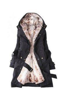 Women's warm long coat for winter
