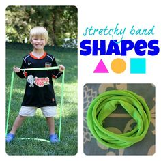 Stretchy Band Shapes as seen on Kindergarten Klub  www.kindergartenklub.com