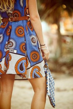 The Zara Dress & Ipad Case, made from Kanga & Kitenge Fabric  www.kizimwi.com . #africafashion