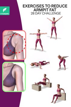 REDUCE ARMPIT FAT Are you struggling with armpit fat that is shown in every dress that you wear? We got the right workouts just for you to get rid of that armpit fat. Give it a try to these six simple workouts that will help you reduce armpit fat. Gym Workout For Beginners, Gym Workout Videos, Fitness Workout For Women, Sport Fitness, Butt Workout, Easy Workouts, Workout Routines, Workout Diet, Skinny Fat Workout