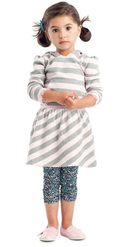 {Spirited Stripes Outfit} What a cutie.