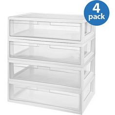 Sterilite Large Modular Storage Drawers, Set Of Great For Under Bed Or Walk  In Closet Storage.