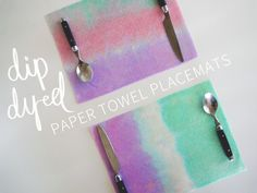 Dip-Dyed Paper Towel Placemats - The Nectar Collective