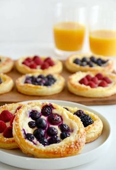 Fruit + Cream Cheese Breakfast Pastries are the perfect addition to your Easter celebration