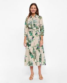 ZARA - WOMAN - FLORAL AND STRIPED PRINTED TUNIC