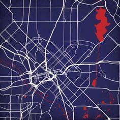 Dallas, Texas | City Prints Map Art
