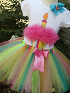 at this point, i've lost all control that i had remaining. and it wasn't much. Custom Girls BIRTHDAY  outfit - CUPCAKE  tee and RAINBOW tutu set in sizes  6-12-18-24 mth 2-3-4-5-6-7-8. $47.00, via Etsy.