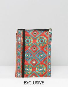 Reclaimed Vintage Embroidered Cross Body Bag