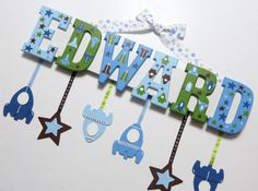 Name plaque baby name wall hanging by inspiredbyparties on etsy space themed name plaque negle Choice Image