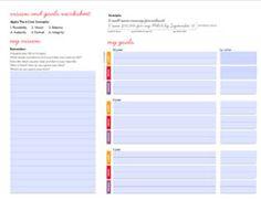 goal setting worksheet & other tips | lululemon athletica