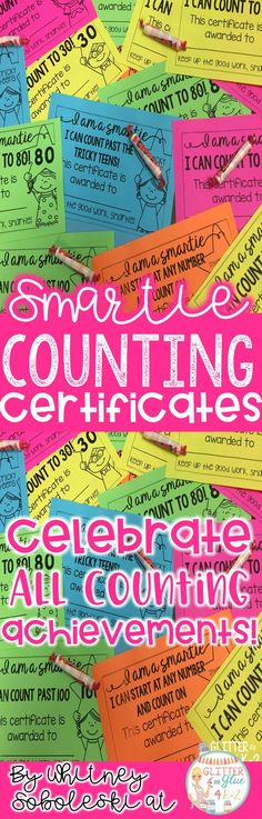 Motivate your little ones to reach oral counting goals with these certificates! Give these to your students to celebrate all counting milestones! Keywords: counting, skip counting, counting to 100, kindergarten, first grade, preschool, special education intervention, math, school awards, student motivation, counting and cardinality.