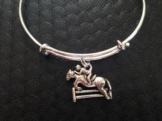 cec1aaa434160c Double Sided Equestrian Charm on an Expandable by JulesObsession, $16.99