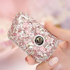 Lexus Pink Bling Car Key Holder with Rhinestones and flowers