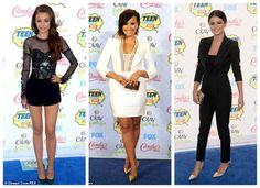 Cher Lloyd, Demi Lovato and Selena Gomez at The Teen Choice Awards 2014
