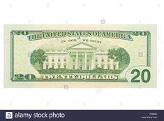 Stock Photo - American twenty us dollar note on a white background