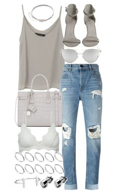 """Untitled #19940"" by florencia95 ❤ liked on Polyvore featuring Alexander Wang, Yves Saint Laurent, Chicnova Fashion, Anine Bing, ASOS, French Connection and Eddie Borgo"