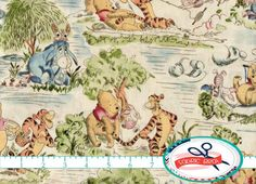 WINNIE the POOH Fabric by the Yard Fat Quarter by FabricBrat
