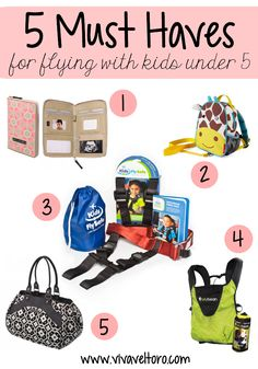 5 must haves for flying with kids. Traveling with children is tough - but these products will make your life easier!